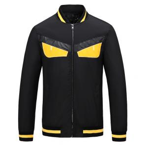 new men brand fashion autumn festival fendi yellow eye zipper