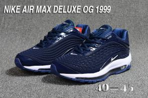 nike air max og deluxe 2018 running chaussures blue blanc