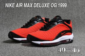 nike air max og deluxe 2018 running chaussures red black