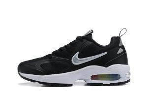 nike air max2 light mesh 2019 leather sneakers black white