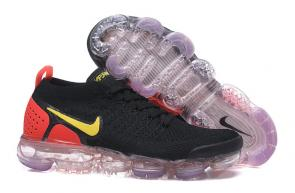 nike air vapormax femmes sneakers 942842-005 black yellow