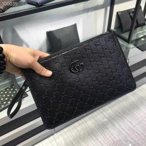 nouveau gucci clutch bag black black card bag gg225