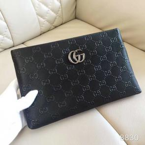 nouveau gucci clutch bag black black card bag gg228