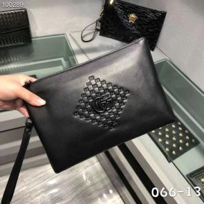 nouveau gucci clutch bag black black card bag gg300