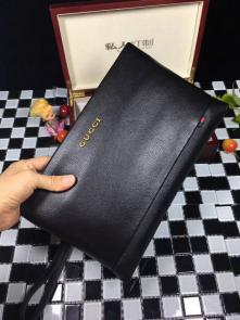 nouveau gucci clutch bag black brass hardware gucci cowhide g03