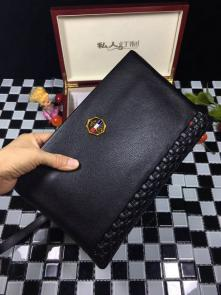 nouveau gucci clutch bag black cowhide italy micro chapter
