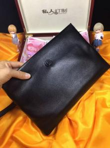 nouveau gucci clutch bag black envelopes gg cowhide