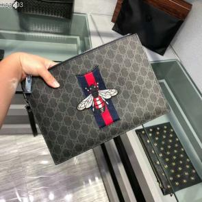 nouveau gucci clutch sac black gg supreme bee black
