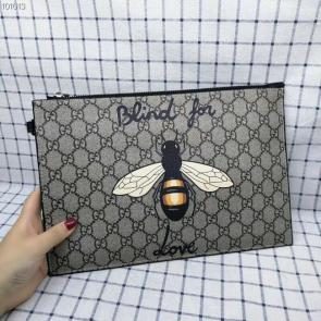 nouveau gucci clutch bag black double gg square grid bee