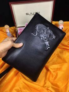 nouveau gucci clutch sac black wallet cowhide tiger embossing