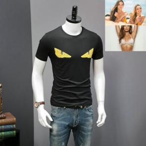 original fendi t-shirt luxory brands monster team black