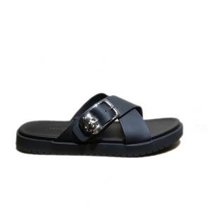 philipp plein men leather thong slides sandals slippers skull xx-style