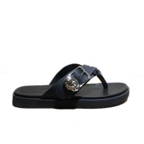 philipp plein men leather thong slides sandals slippers skull yy-style