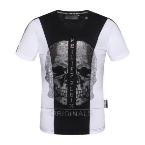 philipp plein t-shirt for hommes casual  p9945 mid black