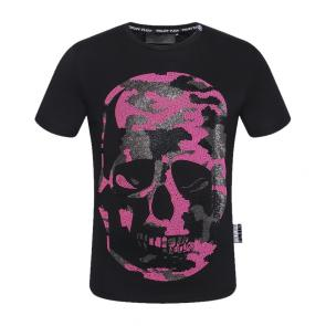 philipp plein t-shirt for hommes casual  song p9935 pink