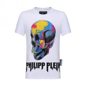 philipp plein t-shirt for men casual style qp8323 skull rainbow