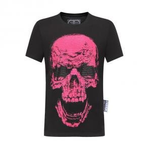philipp plein t-shirt for men casual style larg tete de mort