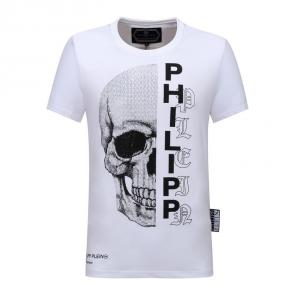 plein t-shirts for hommes discounts ete half skull white
