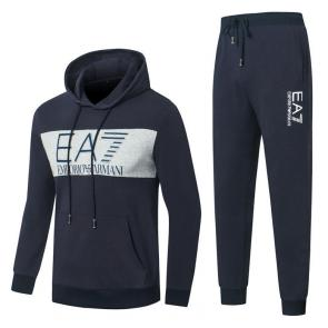 promotion de groupe jogging emporio armani center logo navy blue