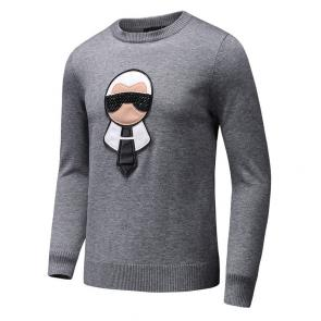 pull long sleeves fendi eyes mode gray