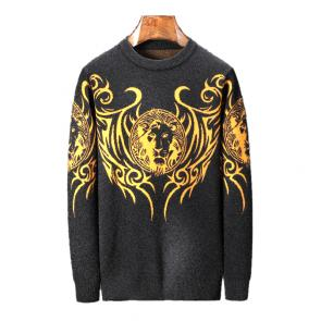 pulls gilets sweat versace tete lion or