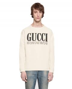 roundneck gucci pull in wool classic 1645 white
