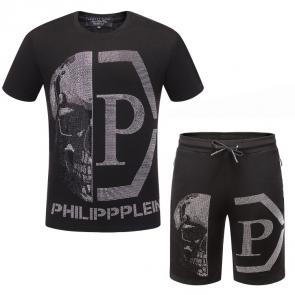 short-sleeved tracksuit philipp plein cheap qp half skull