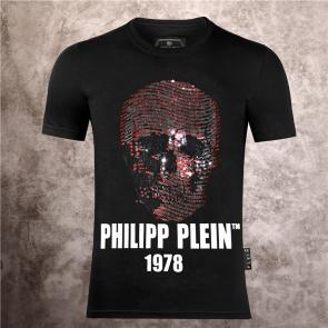 special prices on philipp plein round neck t-shirt 1978 red skull