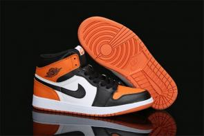 speciale air jordan 1 pour basketball nike pas cher noir  blanc  orange