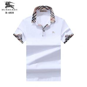 t-shirt burberry manches courtes col polo magasin france b6818 blanc