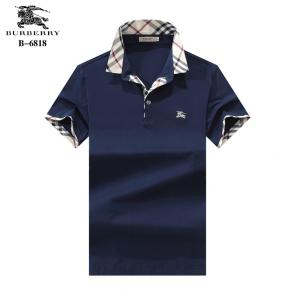 t-shirt burberry manches courtes col polo magasin france b6818 blue