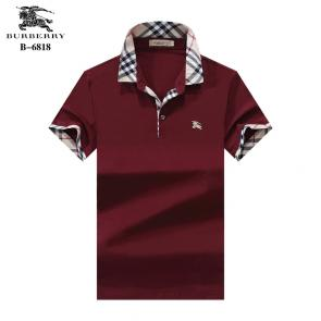 t-shirt burberry manches courtes col polo magasin france b6818 rouge