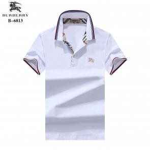 t-shirt burberry manches courtes col polo magasin france discount white