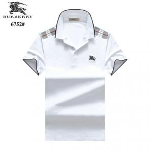 t-shirt burberry manches courtes col polo magasin france hot white