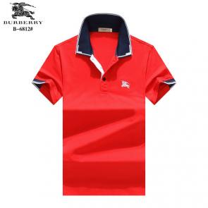 t-shirt burberry manches courtes col polo magasin france logo classic red