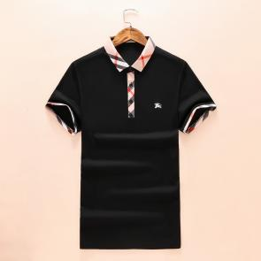 t-shirt burberry hommesches courtes col polo magasin france two button black