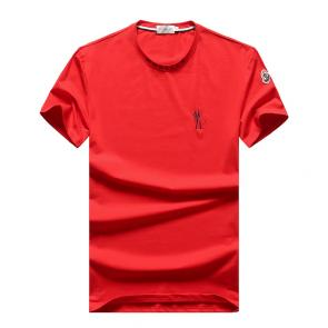 t-shirts moncler 2020 new season rooster pattern red