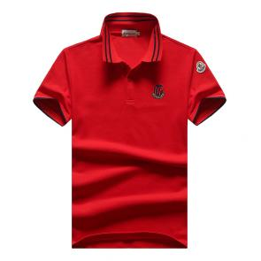 t-shirts moncler 2020 new season polo badge embroidered isp rouge