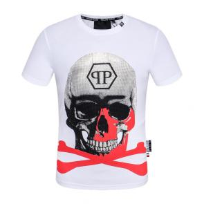 t-shirt garcon philipp plein cool red skull