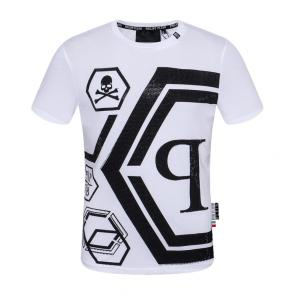 t-shirt garcon philipp plein cool qp78 hexagon white