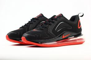 unisex nike air max 720 running chaussures nano black red