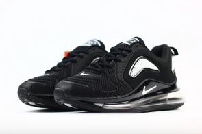 unisex nike air max 720 running chaussures nano black white