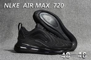 unisex nike air max 720 running chaussures black 2019