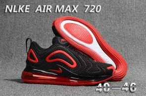unisex nike air max 720 running chaussures discount black red