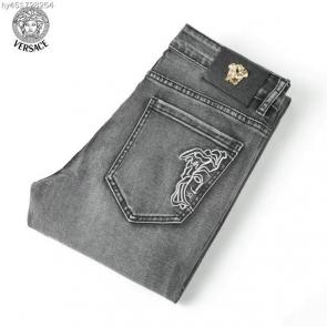 versace jeans couture slim fit stitched jean gray medusa