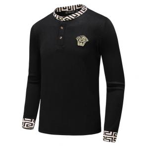 versace pulls  classic logo intarsia col rond