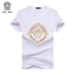 versace t-shirt fashion designer versace embroidery round white