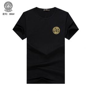 versace t-shirt fashion designer versace embroidery top round neck