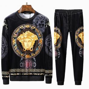 jacket de jogging versace collection velours round neck