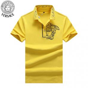 young man versace polo shirt print hlaf medusa new